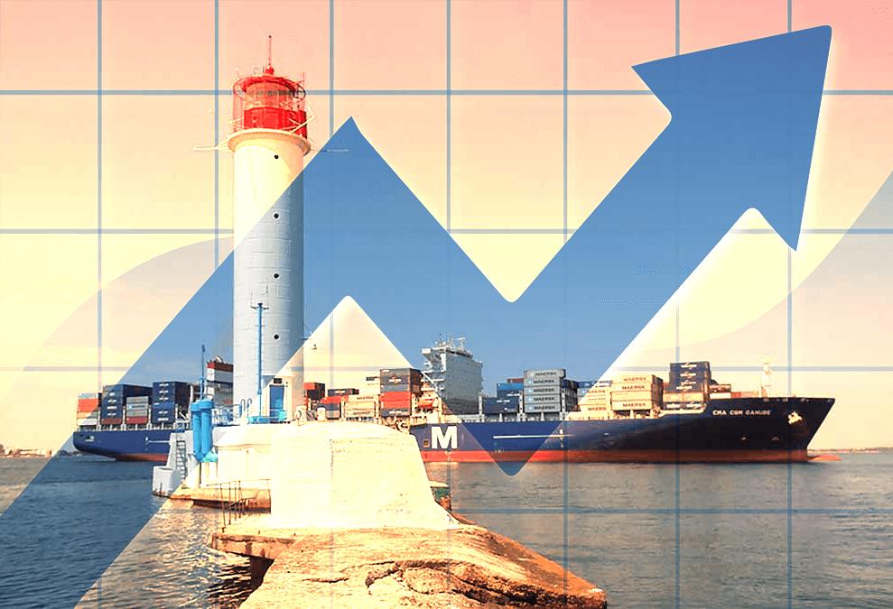 Одесский порт увеличил транзит контейнеров в Россию на 32%